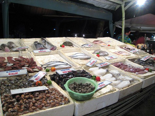Seafood display at the Sea Breeze