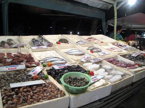 Seafood display at the Sea Breeze