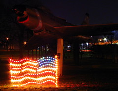 Christmas at Centennial Park #4: Flag and Tenn. Air Guard