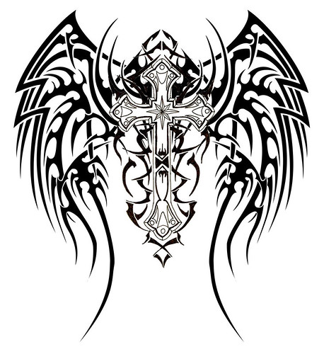 cross Tribal Wings Cross .