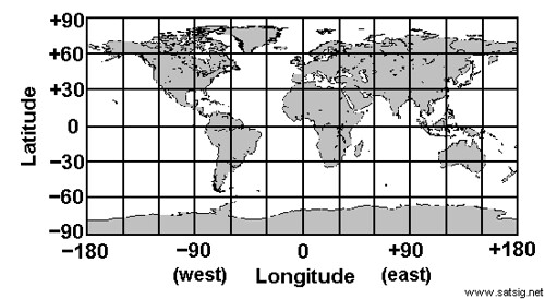 world map with lat and long