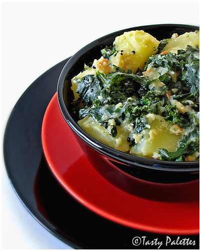 Indian Spiced Kale With Potatoes