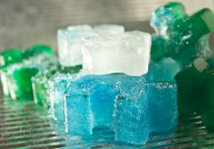 Colored Ice Cubes (Cliff Johnson) Tags: light metal frozen puzzle icecubes reflective ghettolighting
