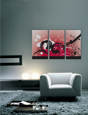Modern Mural - Digital Contemporary Wall Design :  wall art art wall decor canvas