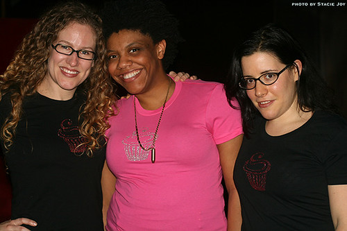 Allison, Nichelle and me in our blinged-out cupcake t-shirts