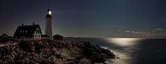 Moonlight Feels Right (Karnevil) Tags: ocean longexposure sea usa lighthouse cold nature night portland nightshot maine moonlight soe portlandheadlight 30secondexposure capeelizabeth portlandheadlighthouse freezingmyassoff impressedbeauty ysplix ilovelobsterrolls
