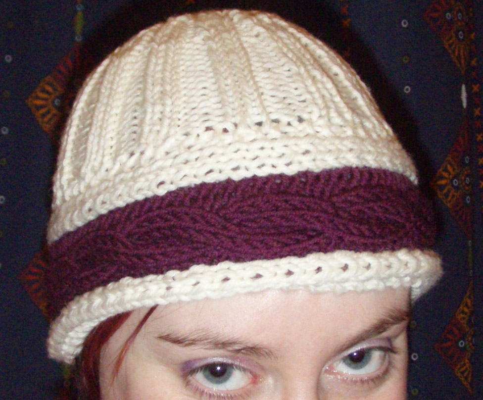 Mum's hat on me 2