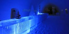 IMG_2887 (gezzajax) Tags: blue snow cold art ice water architecture reindeer design bed sweden freezing arctic e freeze lapland northern dogsledding kiruna icehotel arcticcircle jukkasjrvi snowmobil torne reindeerskin rivertorne