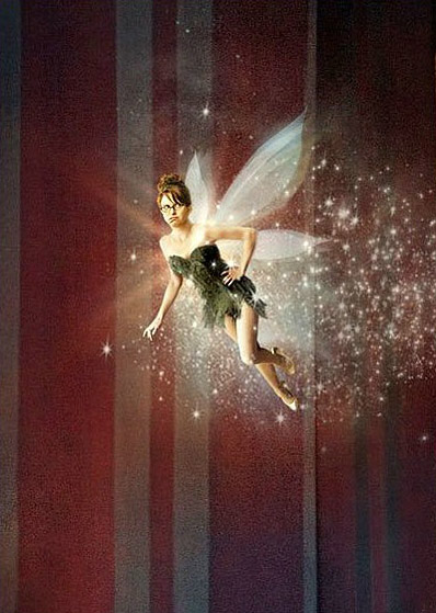 (as Wendy Darling) while Tina Fey sprinkles fairy dust as Tinkerbell.