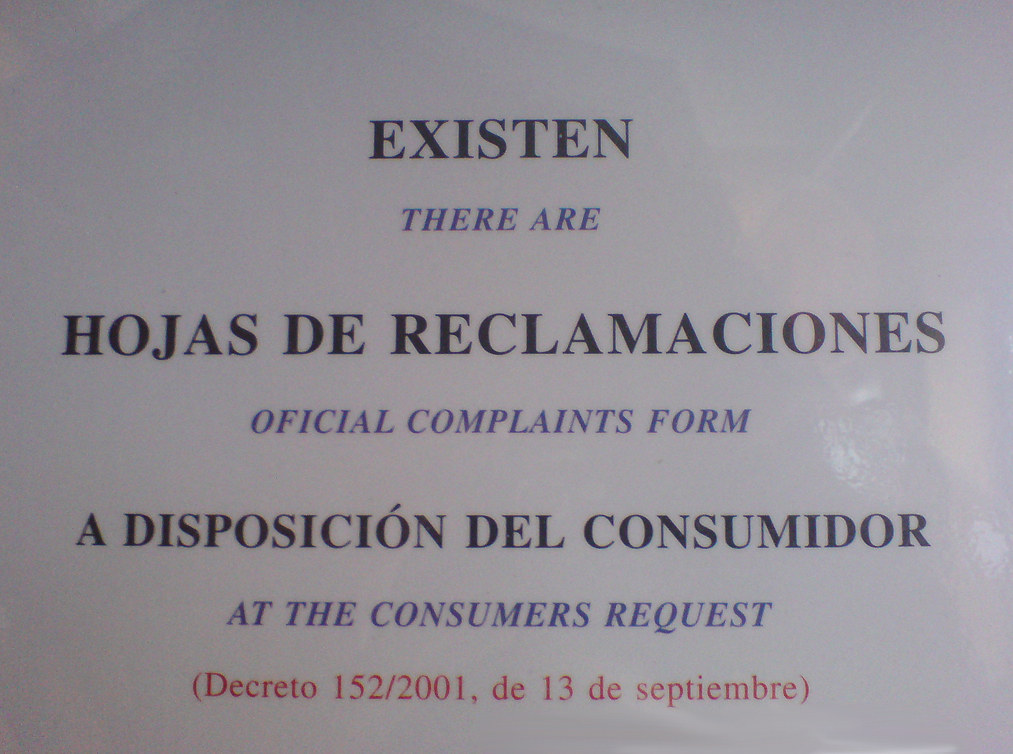 There are oficial complaints form