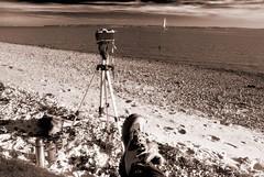 Friday at last (Kinesthesis) Tags: camera uk sea bw beach pentax hampshire solent lepe k10d 52wau2008 52wau2008wk6