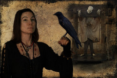 Witch With Raven & More ... (Chris_ti_ane) Tags: photoshop canon skeleton witch crow raven pranger rabe krhe hexe skelett pillory megashot miasbest