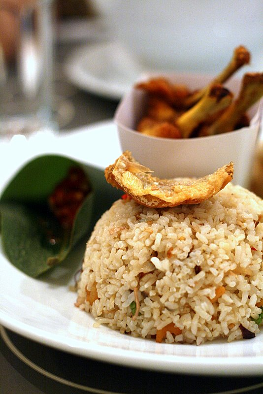 fried  kerabu rice