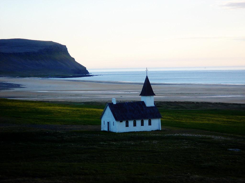 Breiðavík Church and Beach