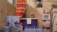 Adrian Monk bathes in mineral water
