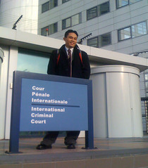 Rik at the ICC in the Hague