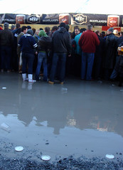 Flooded bar area at Murrayfield stadium at Scotland vs England 2008 6 nations match
