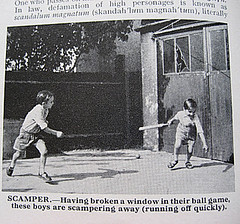 Scamper (Bollops) Tags: illustration vintage garage cricket vandalism ultraviolence yobs brokenwindow 1963 hoodies scamper asbo childrensdictionary theeducationalbookcompany girlsshoesagain gordonstowell