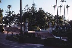 "Steps and esplanade leading to ""Casa Grande,"" Hearst Castle (birdgal5) Tags: california californiastateparks 55mmf35micropc nikkormatel hearstsansimeonshm"