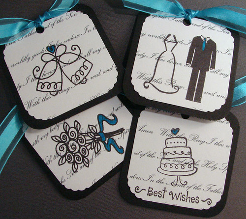 Turquoise Wedding Tags by