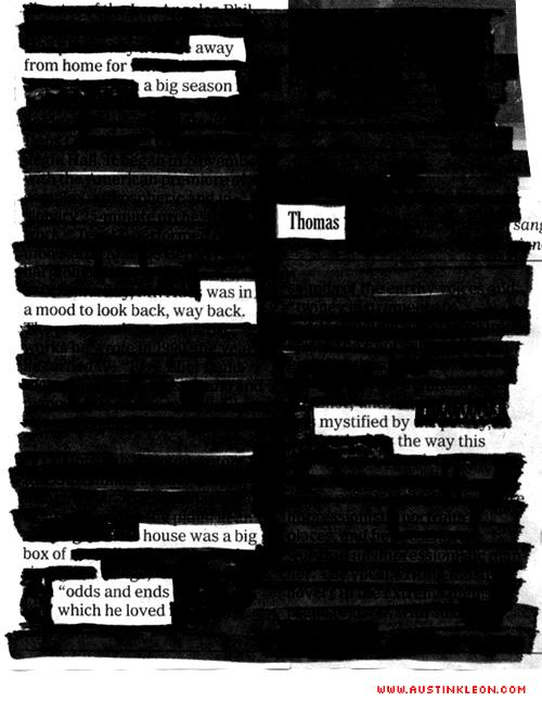 newspaper blackout poem