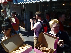 Flickr came bearing donuts (rcrowley) Tags: sanfrancisco flickr donut curvr curvr:process=curve curvr:version=02 dayofthedonut