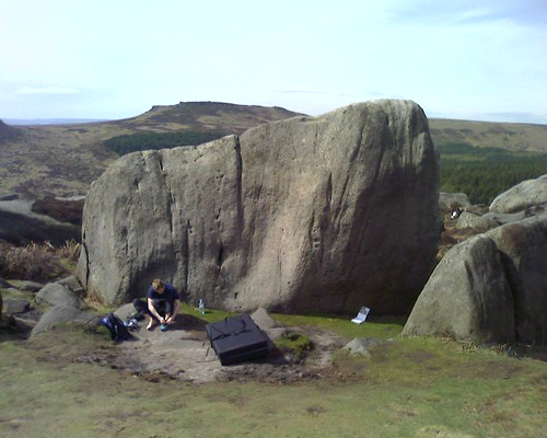 Bouldering, Burbage South - The beginning