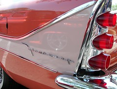 DeSoto Firesweep Fin (Dusty_73) Tags: auto show detail classic car vintage style chrome 1958 chrysler mopar fin desoto kingsburg forwardlook firesweep defins