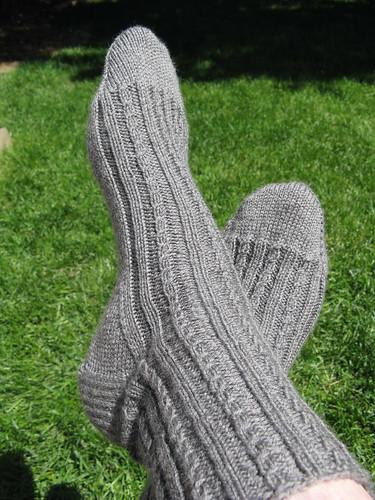 Tiny Cable Socks