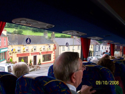 Ireland - Killkenny to Wicklow - yes, the bus is about to turn and go down that tight downwardly curving street!