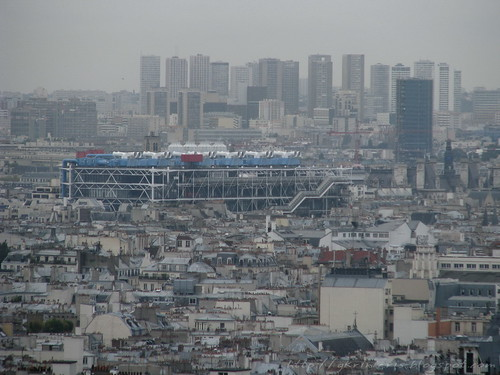 Centre Georges Pompidou as viewed from Montmartre