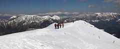 Porezen summit ridge (Vid Pogacnik) Tags: slovenia mountain winter tourskiing skitouring porezen panorama mountainridge julianalps