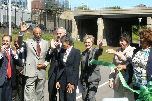 Ribbon-cutting For Dequindre Cut