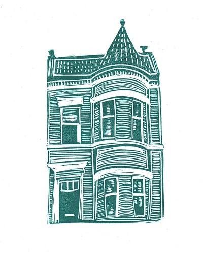 Georgetown Rowhouse print