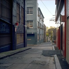 The Shooting of Norman Bruhn. (Stu.Brown) Tags: 6x6 rollei rolleiflex nc sydney australia crime 400 sl66 portra charlottelane eastsydney normanbruhn