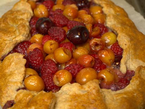 Cherry and Raspberry Freeform Pie