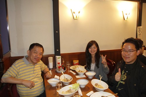 Having dinner with dad and Maiko the producer at Restaurant Acacia