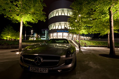 SLS (Michad90) Tags: city car night germany lights mercedes benz nikon stuttgart sls daimler 10mm d90