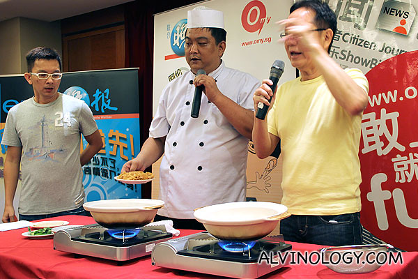 Cooking demo by the head chef