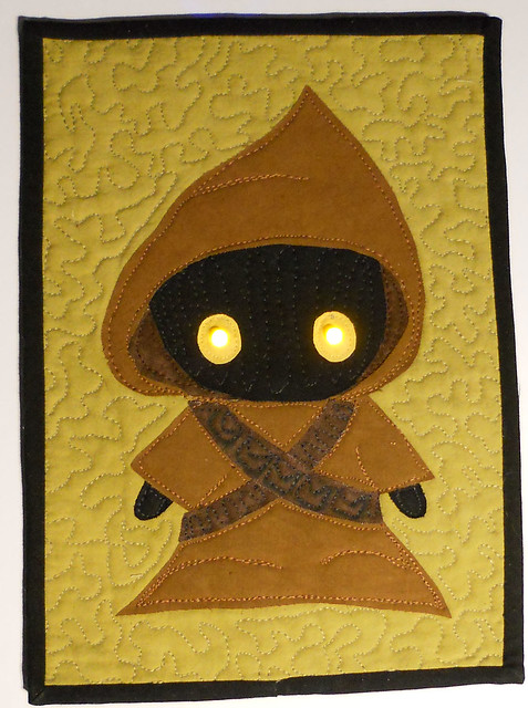 Jawa quilt with LED light up eyes