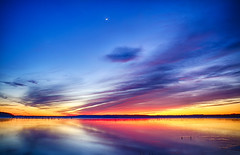Lake (Kansas Poetry (Patrick)) Tags: moon lake kansas crescentmoon clintonlake patrickemerson patricknancyforever