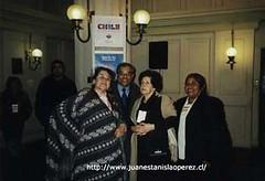 Con Margot Loyola, Raquel Barros y Margarita Chocobar,  III. Cabildo Nacional de la Cultura. Hotel O'Higgins, Viña del Mar. V Región