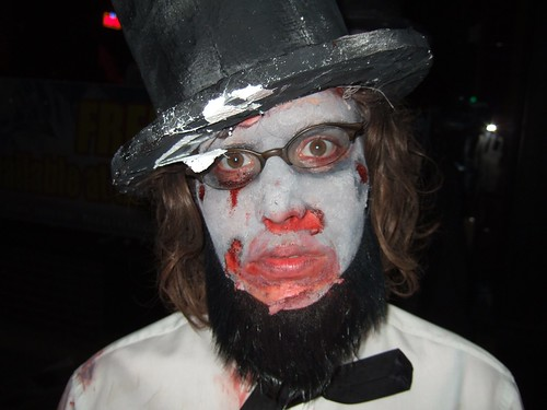 Claudia is Zombie Abe Lincoln