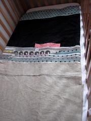 Laid Out (6.5st) Tags: linen cotton cashmere babyquilt 65st