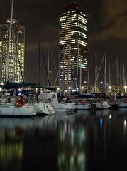 Mes reflexos (SlapBcn) Tags: barcelona port boats noche slap reflexos nit reflejos torres mapfre canong7 aplusphoto theperfectphotographer bachspicsgallery slapbcn