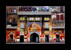 colorful remains (!!sahrizvi!!) Tags: pakistan red abstract building art heritage beautiful architecture nikon patterns bricks culture mosque designs lahore islamicart wazirkhan glazedtiles rizvi sahrizvi d80 nikonstunninggallery colorphotoaward