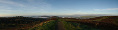 Panoramic: Facing West From Caerphilly Mountain