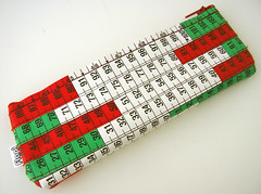 Red, Green and White Measuring Tape Case
