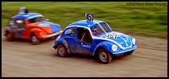 The Fast and the Pumuckel (van heland) Tags: blue orange green car volkswagen small stock racing 451 german autocross grn blau panning 2007 kfer kcar trossingen teufelsgurgel vwracecar vwrallycar vwrallymachine
