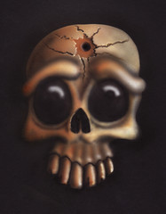 Airbrush - Bullet Skull (Marius Mellebye / 276ccm) Tags: art skull lights drawing teeth ixus marius airbrush ixus500 2007 cracking iwata custompaint mariusmellebye mellebye skulladay 276ccm